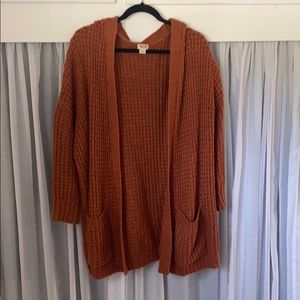 Target Terra-cotta Slouchy Long Sweater